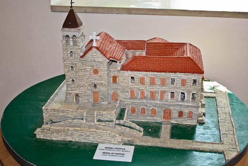 Макет монастыря Висовац