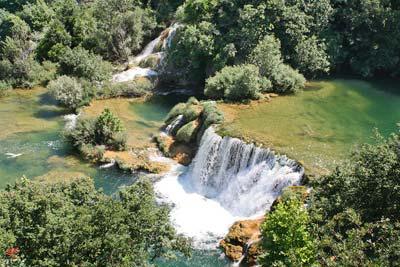 На автомобиле по Хорватии - водопады парка КРКа