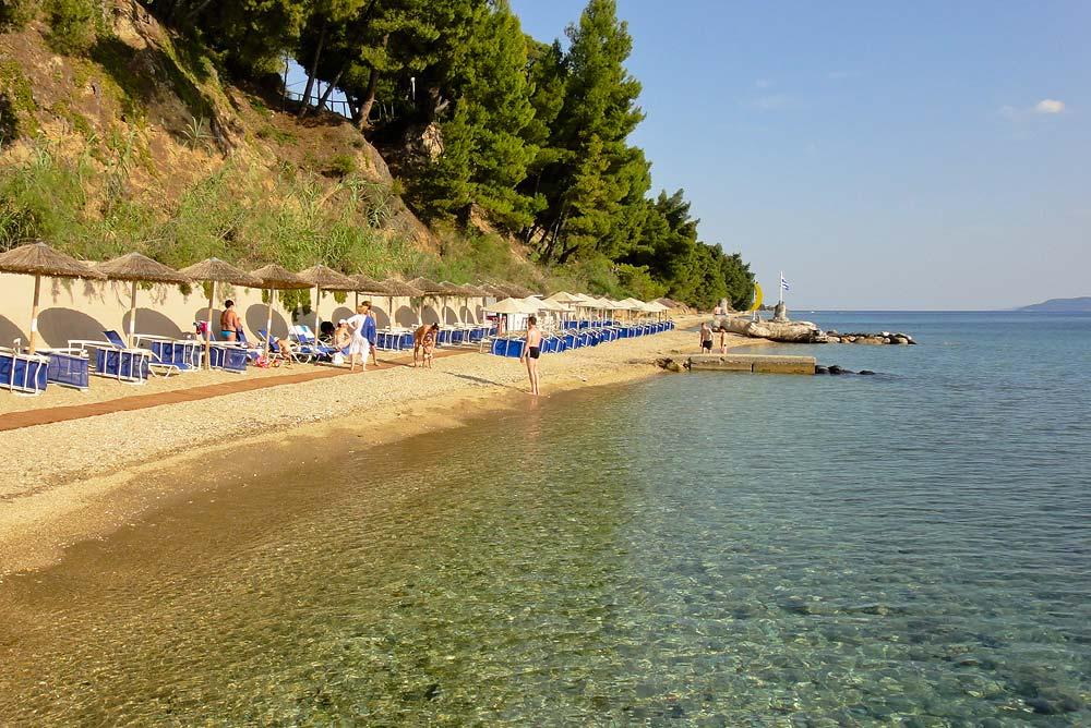 Пляж отеля Афина Паллас