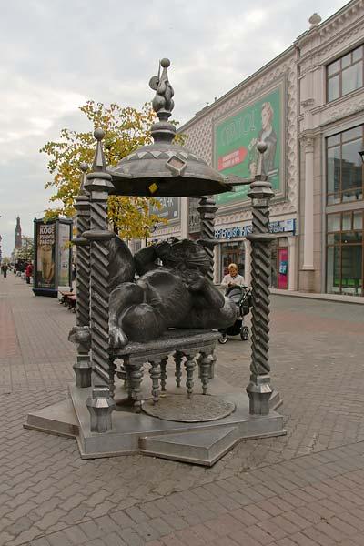 Скульптура казанского кота