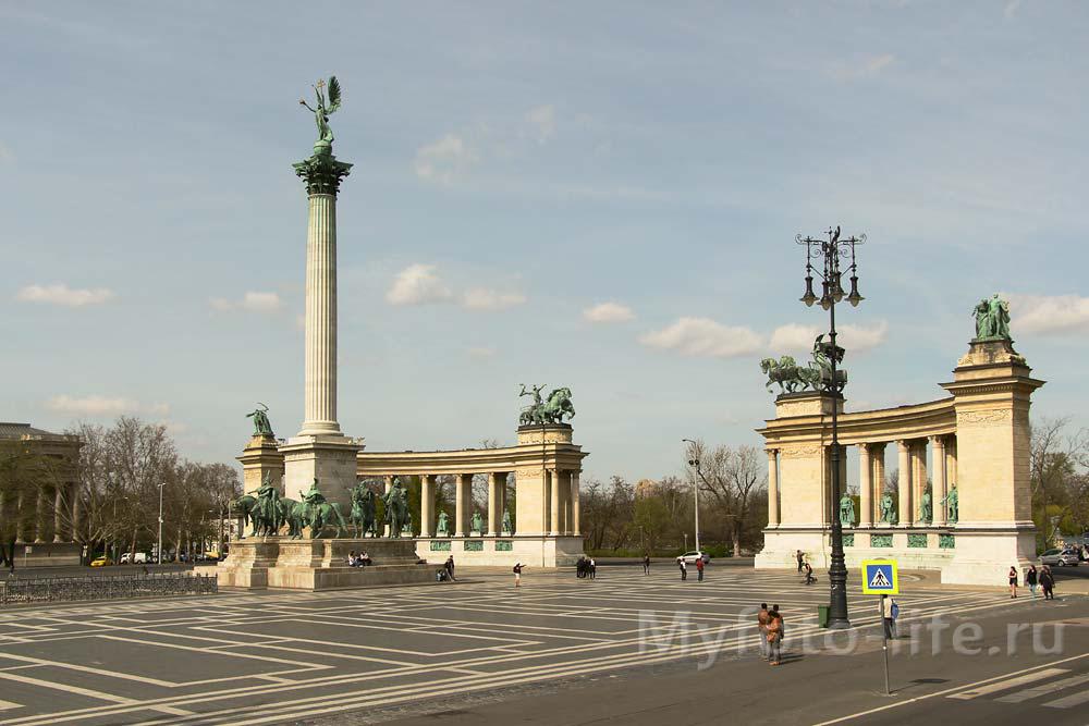 Поездка в Будапешт. Площадь Героев