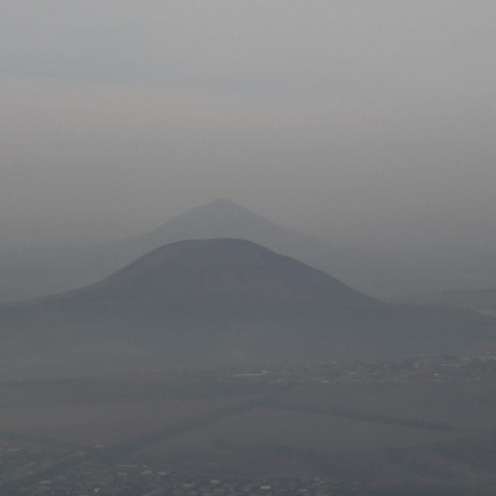 Вид с Машука на горы Юца и Джуца