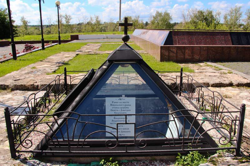 Место обнаружения алтаря храма святителя Николая