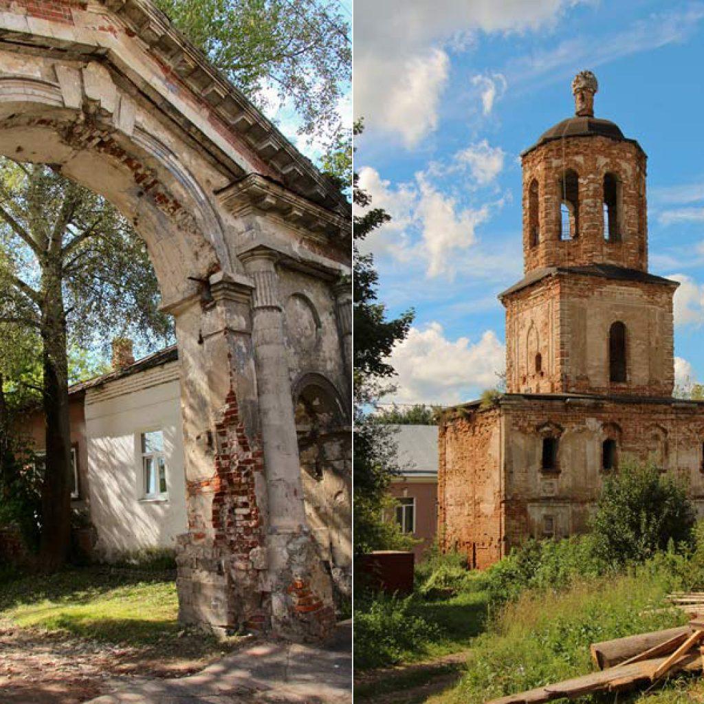 Распятская церковь - врата и колокольня