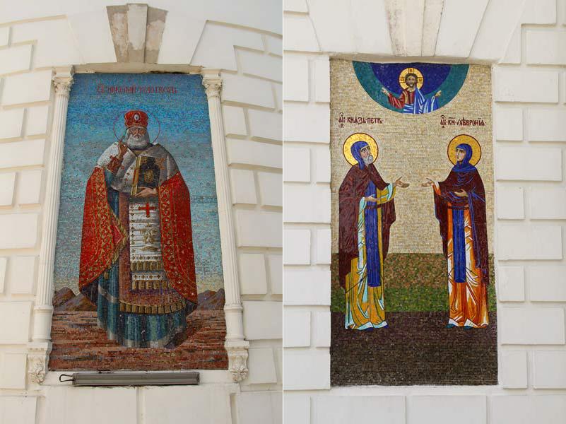 Фрески на фасаде собора Николы Белого