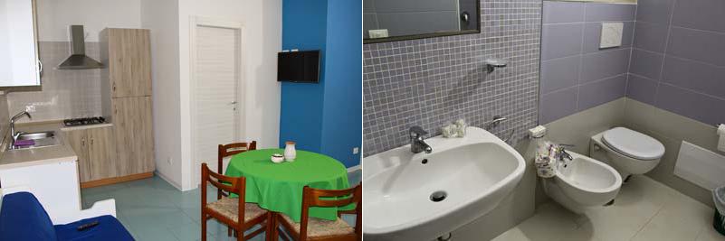 Новые домики - гостиная и ванная комната