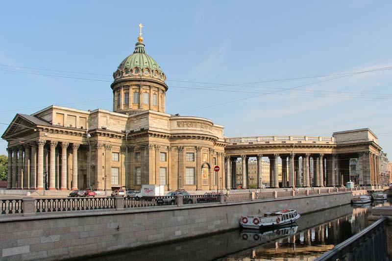 Где остановиться в Питере? Отель Грифон.Вид на Казанский собор со стороны канала Грибоедова